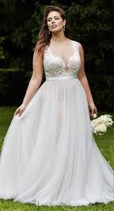 Plus Size Collection :: <b>Boho Deep V-Neck</b> Beach Wedding Dress ...