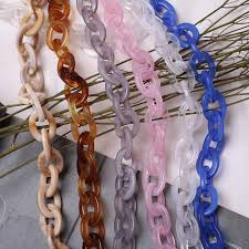 Big ring <b>Acrylic</b> Strap Large Seize <b>60 120cm</b> DIY <b>Resin Chain</b> ...