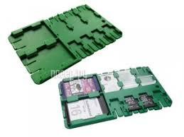 <b>Футляр REFI Holder SD</b> / microSD / SIM Green