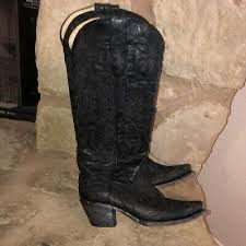 Women Corral Women's <b>Western Leather Black</b> Eagle Overlay ...