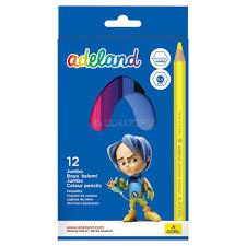 Карандаши цветные <b>Adel ADELAND</b> JUMBO HEXA 211-9510-100 ...