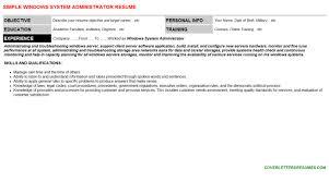 free resume template free mini stic resume template windows    windows system administrator resume