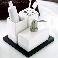 bathroom accessories sets gerryt black white bathroom accessories set home home bathroom accessories sets brown