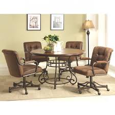 swivel dining room chairs casters