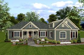 House Plan at FamilyHomePlans comCountry Craftsman House Plan Elevation