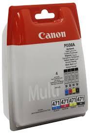 Набор <b>картриджей Canon CLI</b>-471 Multipack <b>C</b>/<b>M</b>/<b>Y</b>/BK (0401C004 ...