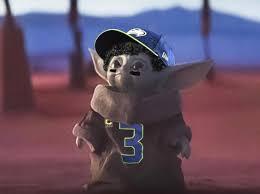 GAME DAY BABY YODA : Seahawks