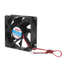 ANENG HOT! 80 x 80 x 25mm <b>12V 2 pin</b> brushless cooling fan for ...