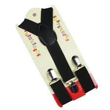 <b>Winfox Fashion</b> 1 Inch Wide Black Grey <b>Red</b> Solid Y Back Clip On ...