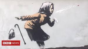 Banksy sneezing <b>woman artwork</b> appears on Bristol house - BBC ...