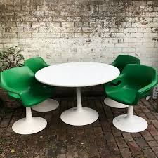 Retro vintage Sebel <b>dining</b> table and <b>chairs</b>. Funky apple green ...