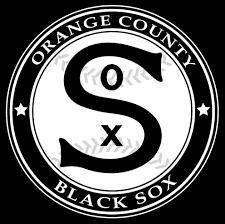 team orange county black sox team logo