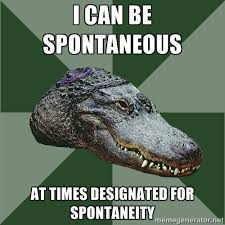I can be spontaneous at times designated for spontaneity - Aspie ... via Relatably.com