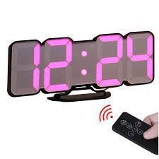 Voice Control <b>3D LED Digital</b> Wall Clock Remote Control <b>Electronic</b> ...