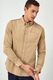 Buy <b>Sand</b> Long Sleeve Cord Shirt from Next Russia
