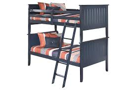 blue leo 3 piece twin over twin bunk bed view 2 ashley leo twin bedroom set