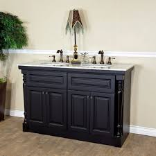55 inch double sink bathroom vanity:  bellaterra home a double sink bathroom vanity