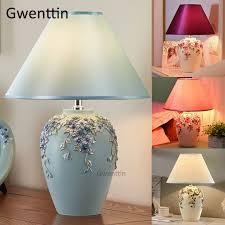 <b>Modern</b> Romantic Flower Table Lamps <b>Led</b> Stand Desk Light <b>Resin</b> ...