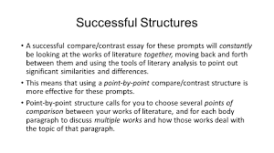 writing a compare contrast essay about literature    ppt downloadsuccessful structures a successful compare contrast essay for these prompts will constantly be looking at