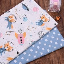 160CM*50CM <b>Space</b> animal <b>cotton</b> fabric sewing baby cloth infant ...