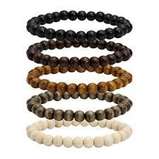 MILAKOO 5 Pcs Wooden Beaded Bracelet Bangle for ... - Amazon.com