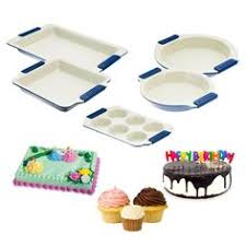 5pc Set <b>Vitesse</b> Ceramic Baking <b>Pans</b> Round Cake Muffin Cupcake ...