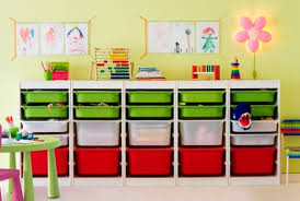 colorful flower green red transparant chairs table desk ikea kids room storage modern contemporary wooden stained childrens storage furniture playrooms