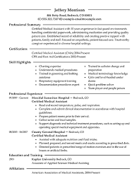 resume example exmed  examples of medical resumes objectives for    medical assistant student resume objective