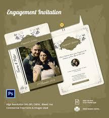 engagement invitation psd ai vector eps editable engagement invitation template