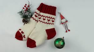 Как связать <b>носки</b> спицами. <b>Жаккард</b> без протяжек. Christmas ...