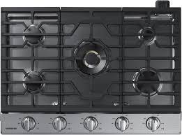 black appliance matte seamless kitchen:  samsung gas cooktop nakts