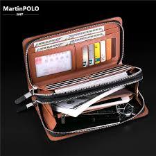 <b>MartinPOLO</b> Luxury Business Double Zipper <b>Men</b> Clutch <b>Bag</b> ...