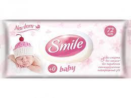<b>Салфетки влажные Smile Baby</b> New Born нейтральные с ...