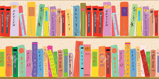 cartoon (library, book,