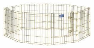 <b>MidWest вольер</b> 8 панелей 61х61h см с дверью позолоченный ...