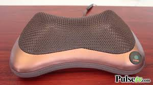 Heated Shiatsu <b>Massage Pillow</b> - YouTube