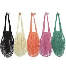 Home, Furniture & DIY Portable <b>Durable Mesh</b> Net <b>Shopping Bag</b> ...