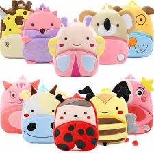<b>2019</b> Cartoon Kids <b>Plush Backpacks</b> Mini Kindergarten schoolbag ...