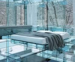 futuristic bedroom design with glass floor in glass amazing bedrooms designs