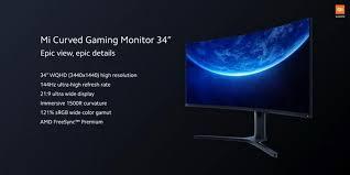 <b>Xiaomi</b> представила свой первый изогнутый игровой <b>монитор</b>: 34 ...