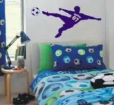 Football Wall Sticker Custom <b>Name</b> & No Soccer Poster <b>PVC</b> Decal ...