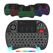 Rii X8Pro Russian 2.4GHz Wireless Mini Keyboard - Black Russian ...