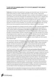 family law essay on law reform   legal studies  year  hsc  family law essay