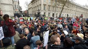 """Résultat de recherche d'images pour """"Protesters at Downing street"""""""
