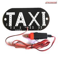 <b>12V Taxi Cab</b> Windscreen Windshield Sign LED <b>Light Lamp</b> Bulb ...