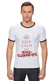 Футболка Рингер KILL ZOMBIES #711360 от Михаил Авилкин по ...