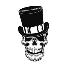 Free Vector | <b>Skull in top hat</b> vector illustration. head of scary ...