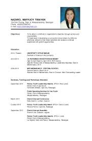 resume sampleresume sample  nazaro  maryjoy tibayan sitio parang  brgy  ii  mataasnakahoy  batangas phone