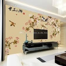 room elegant wallpaper bedroom: free shipping elegant bird and flower wallpaper custom d wall mural vintage photo wallpaper kids girls bedroom living room office room decor interior