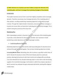 hsc section  long essay responses marketing  finance  year   hsc section  long essay responses marketing  finance